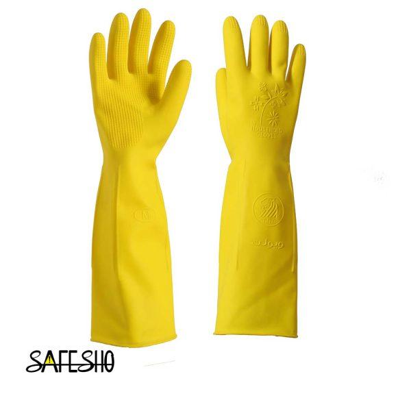 دستکش خانگی (آشپزخانه ) ویولت بلند-تک رنگ