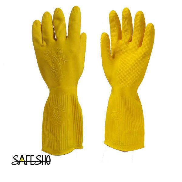 دستکش خانگی ( آشپزخانه) ویولت کوتاه -تک رنگ