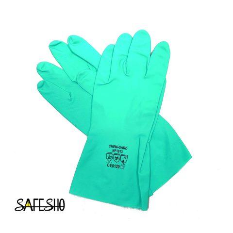 دستکش ضد حلال(نیتریل) کمگارد chem gard