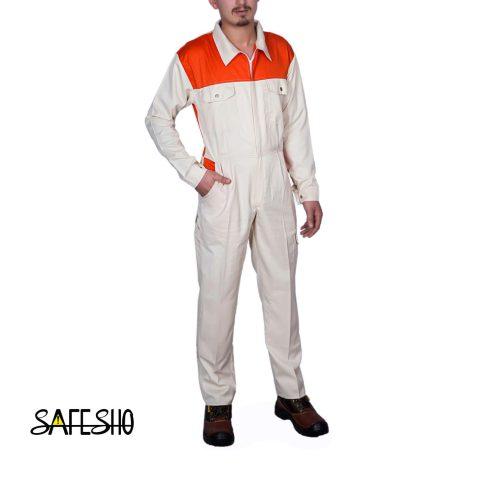لباس یکسره طرح ولوو Volvo کرم-نارنجی