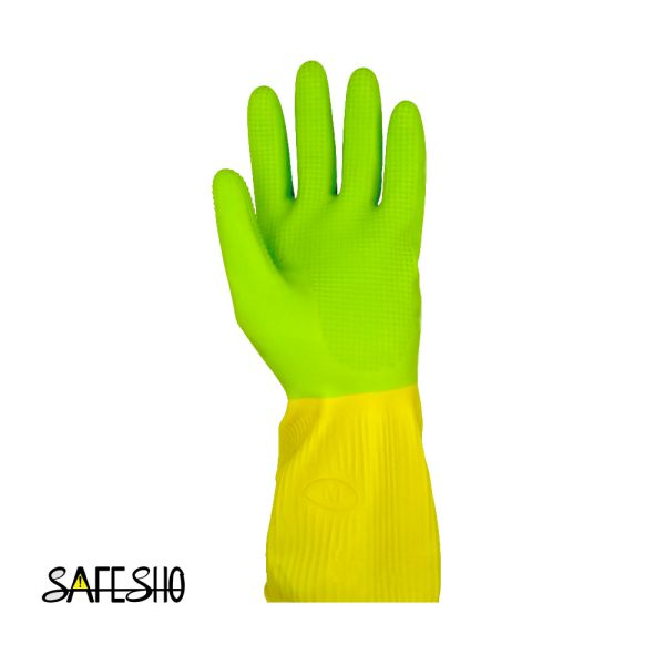 دستکش خانگی ( آشپزخانه ) ویولت کوتاه-دو رنگ
