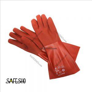دستکش ضد اسید پوشا (بلند کف سنباده ای)