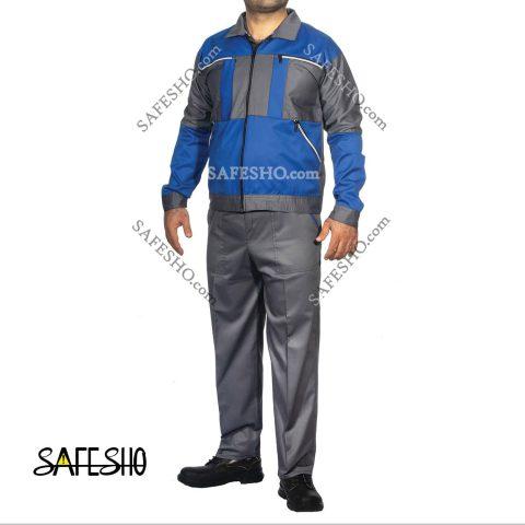 لباس کار مدل سیلور طوسی-آبی