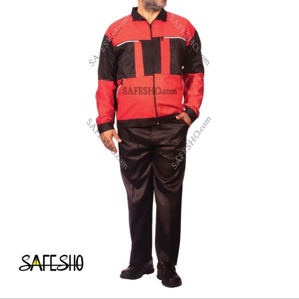 لباس کار مدل سیلور مشکی-قرمز