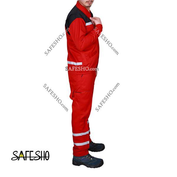 لباس کار مدل مترو Metro قرمز-مشکی