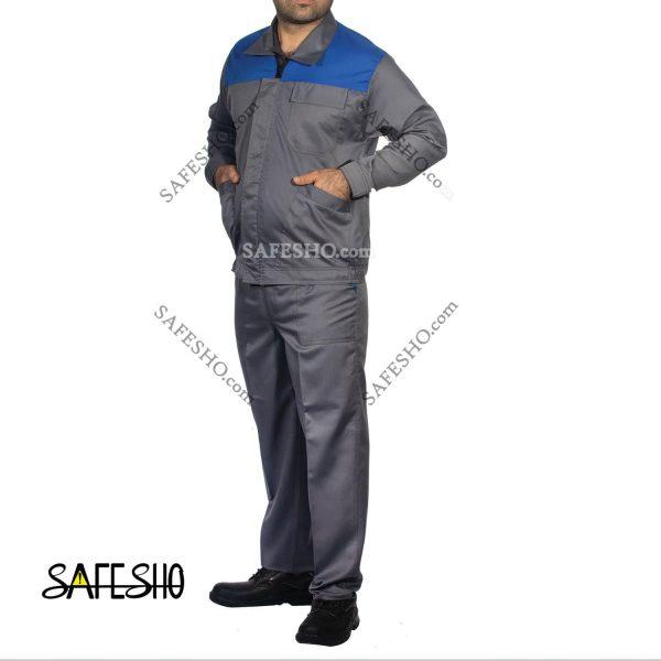 لباس کار مدل Worker ایرانخودرویی طوسی-آبی