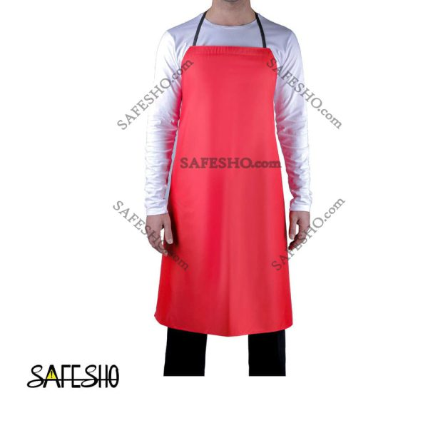 پیشبند آشپزخانه (ظرفشویی) ضد آب قرمز
