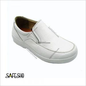 کفش اداری چرم پای آرا مدل آرین سفید