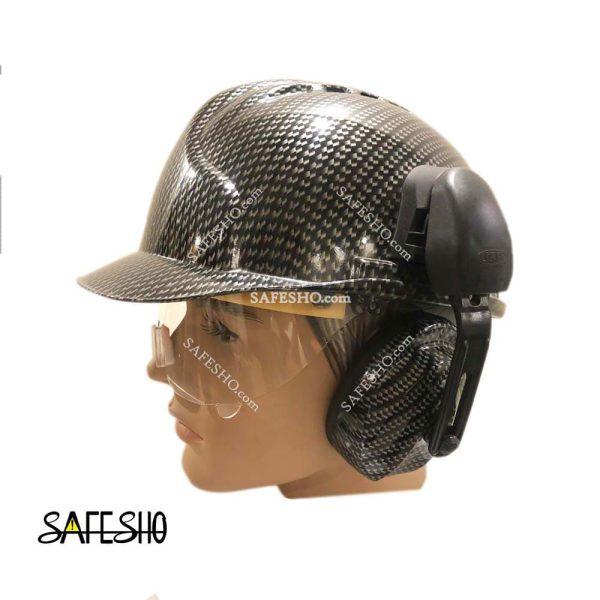 کلاه ایمنی هترمنMK7 Hatterman طرح فیبر با عینک