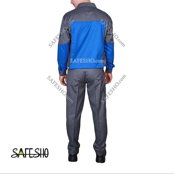 لباس کار مدیریتی طوسی-آبی کارجامه