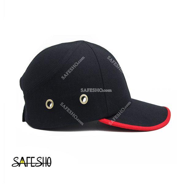 کلاه ایمنی کپ هترمن مشکی-قرمز