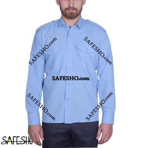 پیراهن نگهبانی آبی